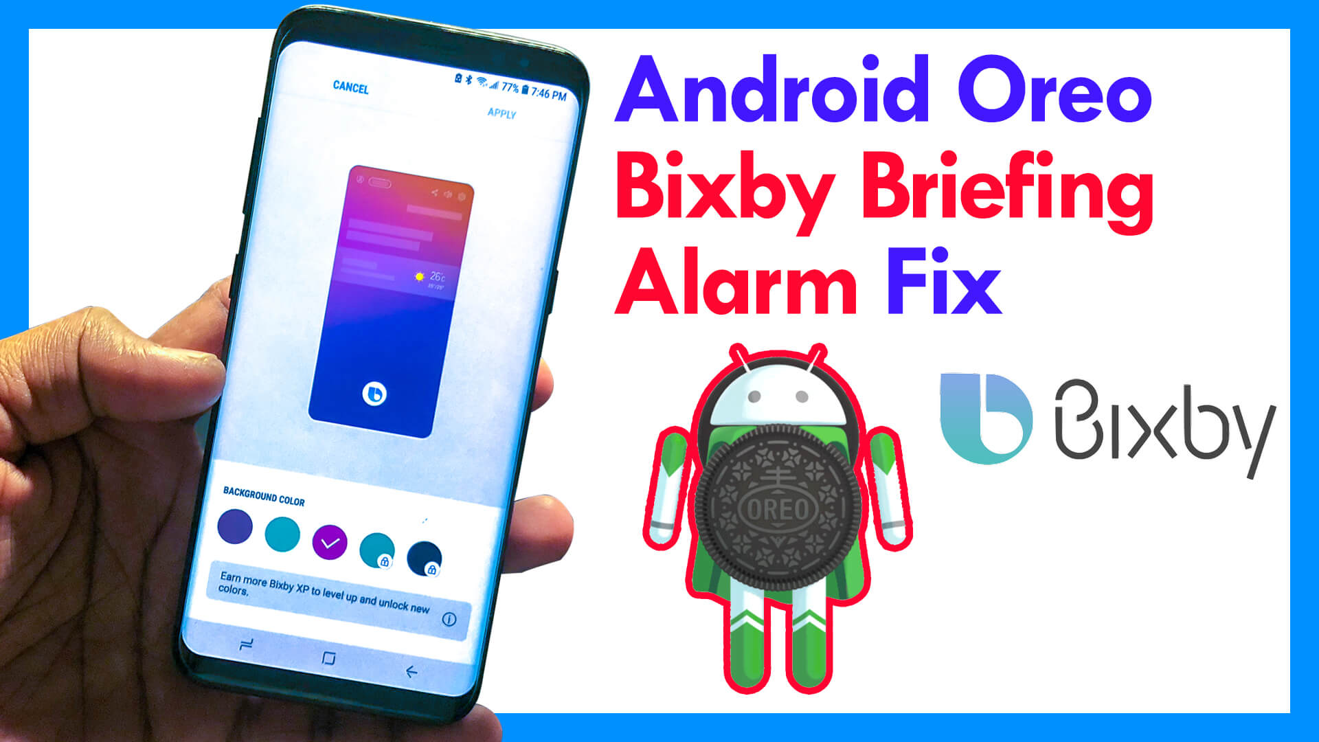 Fix Bixby Briefing Alarm Missing in Oreo Update - Galaxy S8